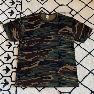 Like New Anvil Camo Print Tee Dark Shades Large